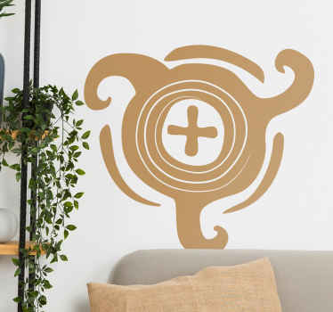 Adesivo murale emblema africano 2