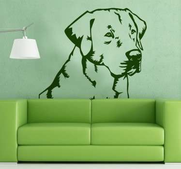 Decorative sticker of a Labrador Retriever to decorate the walls of your home