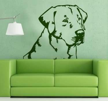 Vinilo decorativo Labrador Retriever
