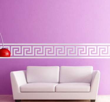 Yksinkertainen kreikkalainen rajamainen tarra
