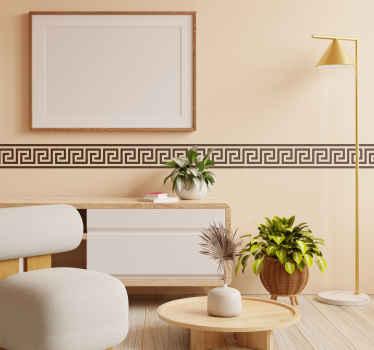 Vinilo línea cenefa griega simple