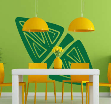 Wall Stickers - Illustration composed of two triangles separated by a center line. Available in 50 colours.