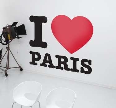 Vinil Decorativo I Love Paris