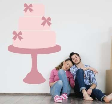 Pink Three Tier Cake Decal