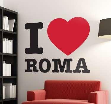 Stencil muro I love Roma