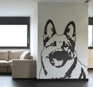 Amazing illustration and exclusive design of a German Shepard that is ideal to decorate the walls of your home.