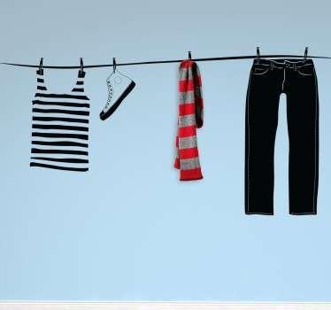 Washing Line Hanger Sticker