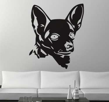 Naklejka sylwetka Chihuahua