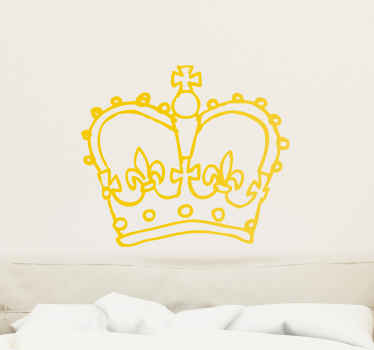 Room Stickers - Royalty, grace and honor. The crown of a Queen. Select the siz and colour that suits you.  Great decals for decorating your home.