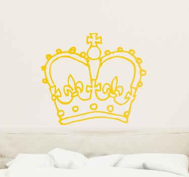 Autocollant mural couronne princière