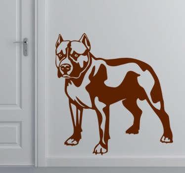 Stencil muro cane Pitbull