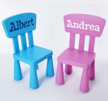 Namen Aufkleber Ikea Stühle MAMMUT