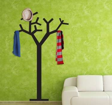 A coat rack sticker with a tree design, ideal for decorating any room in your home. Perfect for any room in your home, especially the enterance hall