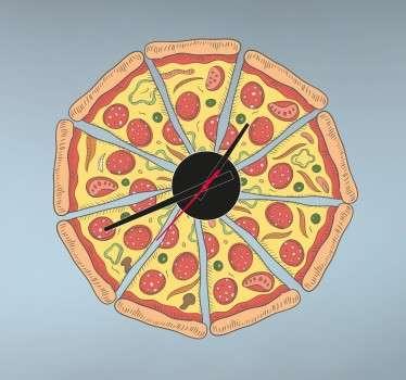Orologio adesivo pizza