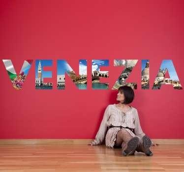Vinilo decorativo texto mural Venezia