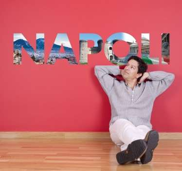 Naklejka z napisem Napoli