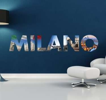Muursticker Milano Milaan