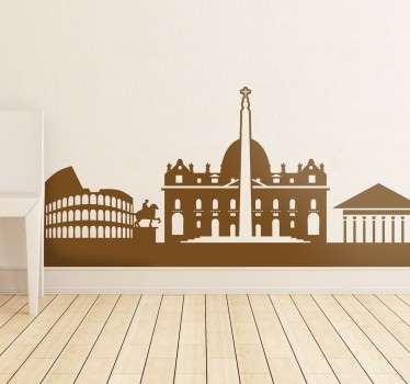 If the city you love is the capital of Italy, then this wall sticker with the profile of famous monuments of Rome is perfect for you.