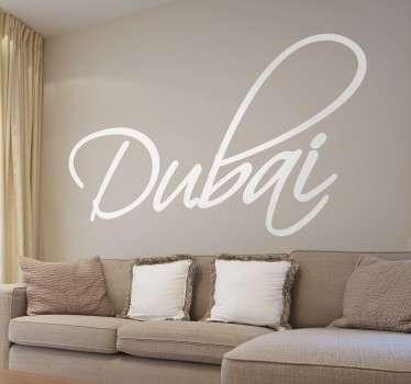 Vinilo texto caligráfico Dubai