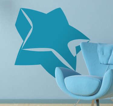 Autocollant mural étoile 3D
