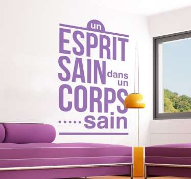 Sticker esprit sain