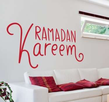 Arabic text sticker to decorate your home and wish your guests a good Ramadan.