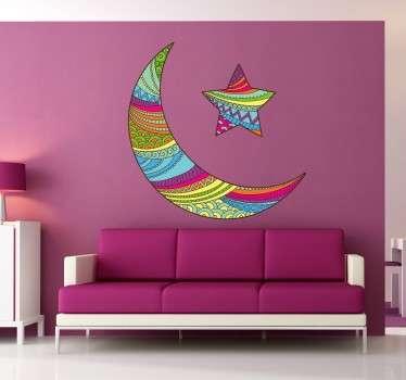 Stencil muro luna stella colori