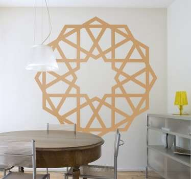 Spectacular wall sticker of a rosette of oriental inspiration, with a fully symmetrical design.