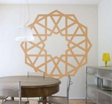 Geometric Rosette Sticker