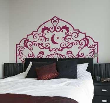 Vinil decorativo cabeceiro estilo árabe