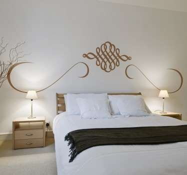 Fantastic symmetrical wall sticker, perfect for decorating a master bedroom.