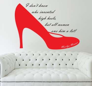 Marilyn Monroe High Heels Wall Sticker