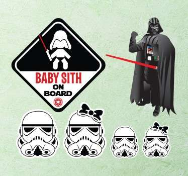 Star Wars Sith Sticker Set