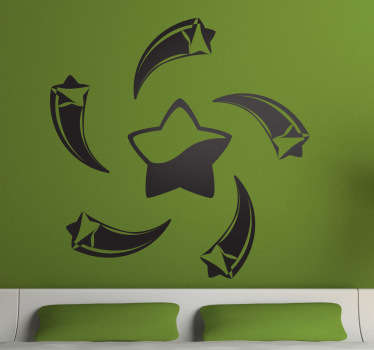 Sticker decorativo stelle a spirale