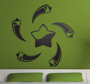 Autocollant mural étoile spirale