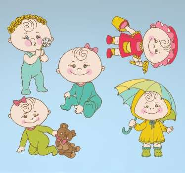 Sticker infantil bebés
