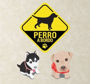 Kit de stickers para los más entusiastas del mejor amigo de hombre, los perros. Decora tus estancias y muestra a todos que lleva el perro en el interior de tu vehículo.