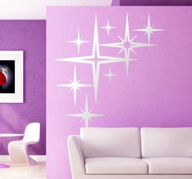 Sticker décoratif étoiles étincelantes