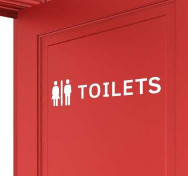 Decals - Clear indication of the location of the toilets. Ideal for companies and establishments. Toilet Sign. Wall stickers.