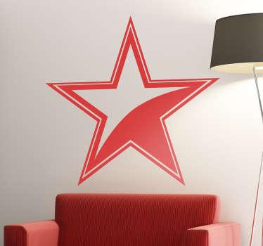 Sticker ster met rand