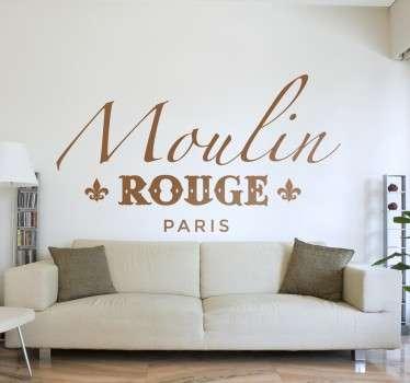 Nalepka nalepke za dom stene moulin rouge paris