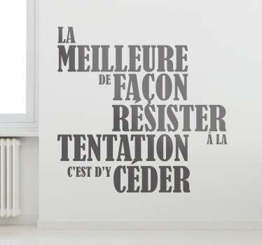Sticker tentation Oscar Wilde