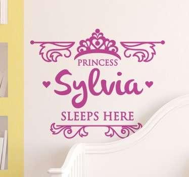 Kids Princess Sleeps Here Wall Sticker