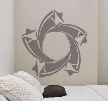 Adhésif mural spirale étoiles