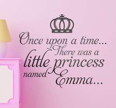 Kids Personalised Fairy Tale Wall Sticker