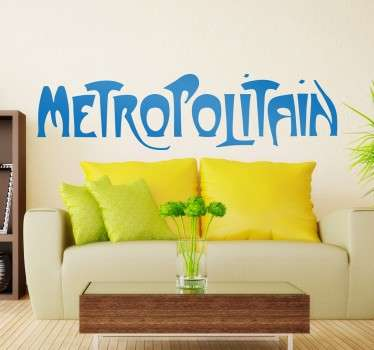 Paris Metropolitain Text Sticker