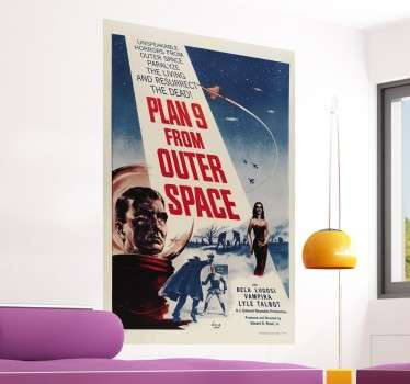 Vinilo cartel Plan 9 from outer space