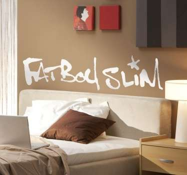 Sticker logo Fat Boy Slim