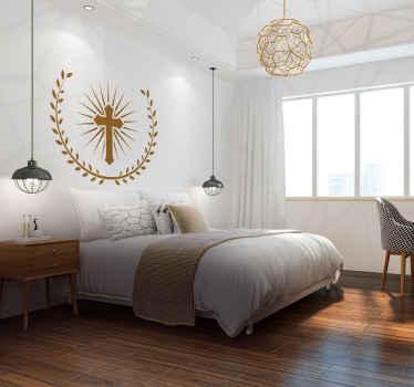 Vinilo pared símbolo cristiano
