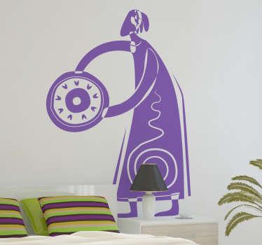 Wandtattoo abstrakte Figur